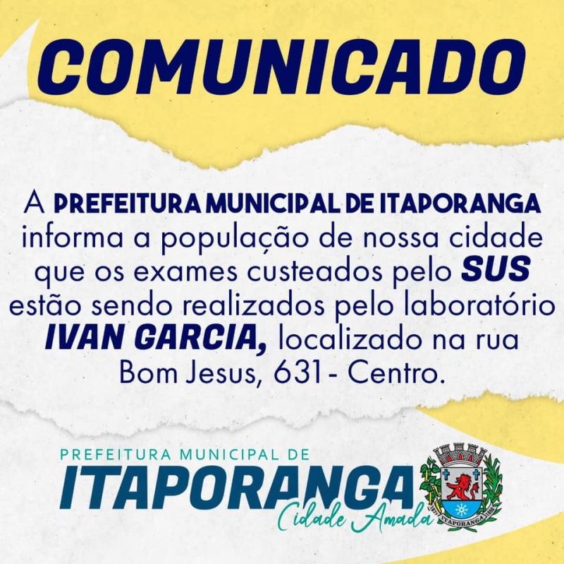 Noticia comunicado---exames-sus